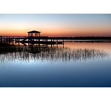 Dock at Dawn Photographic Print