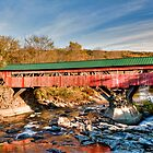 Red Covered Bridge by Joe Jennelle