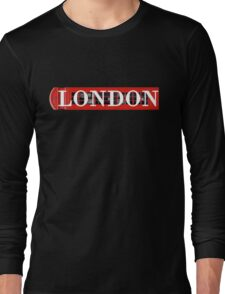 London Phone Booth Graphic Long Sleeve T-Shirt