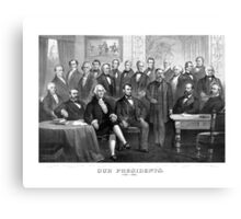 Our Presidents 1789 - 1881 -- US History Canvas Print
