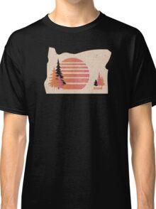 Oregon Love! (retro 70s-style sunset)  Classic T-Shirt