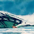 Surfer Surfing waves off California Coast Seascape Water Sports by Rick Short