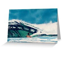 Surfer Surfing waves off California Coast Seascape Water Sports Greeting Card