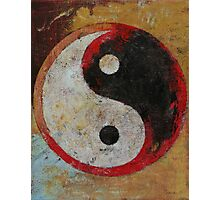 Yin Yang Red Dragon Photographic Print