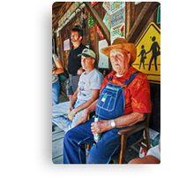 Sittin on the Porch Canvas Print
