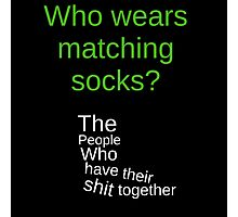 Matching Socks? Photographic Print