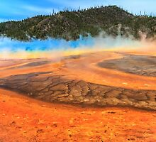 Grand Prismatic shores of steaming color by Owed To Nature