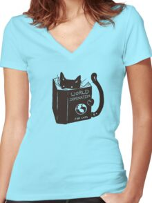 Cats Will Be Cats Women's Fitted V-Neck T-Shirt