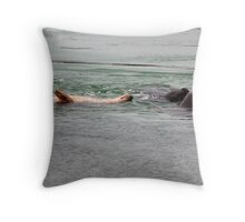 Playing seals Throw Pillow