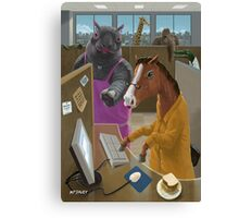 Animal Office Canvas Print