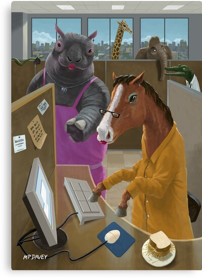Animal Office by martyee