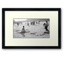 The Photographer, his assistant and the bride Framed Print