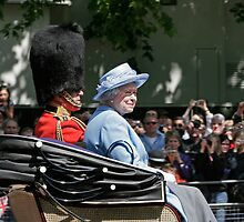 The Queen Trooping the colour  by Keith Larby