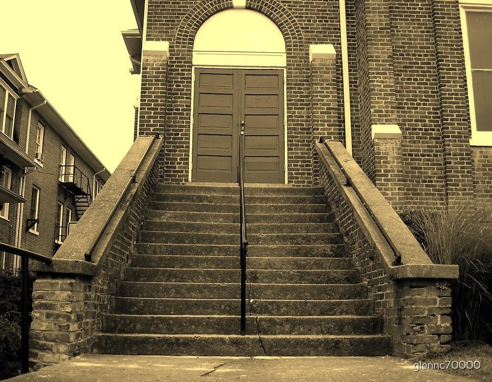Ex-Church Steps and Entrance by Glenn Cecero