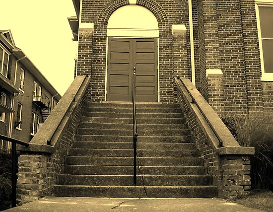 Ex-Church Steps and Entrance by glennc70000