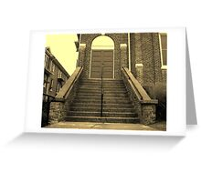 Ex-Church Steps and Entrance Greeting Card