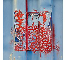 Blue and Red Photographic Print