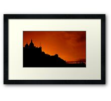 Edinburgh In Silhouettes Framed Print