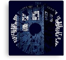 Doctor Who Quotes Tardis  Canvas Print