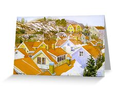 Rooftop landscape Lysekil Greeting Card