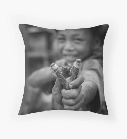 Lao child Throw Pillow