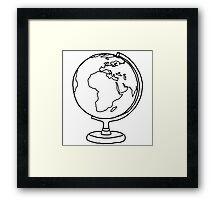 Simple Globe Graphic Framed Print