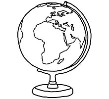 Simple Globe Graphic Photographic Print
