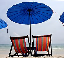 Take it Easy, Beach scene, Thailand  by suellewellyn