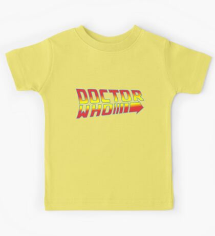 Back to Doctor Who Mash Up  Kids Tee