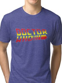 Back to Doctor Who Mash Up  Tri-blend T-Shirt