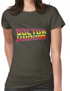 Back to Doctor Who Mash Up  Womens Fitted T-Shirt