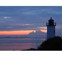 Annisquam Lighthouse Sunset - Gloucester, Massachusetts Photographic Print