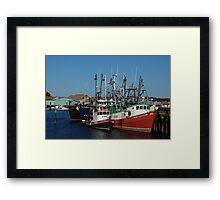 Trawlers in Gloucester Massachusetts Framed Print