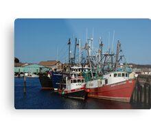 Trawlers in Gloucester Massachusetts Metal Print