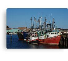 Trawlers in Gloucester Massachusetts Canvas Print