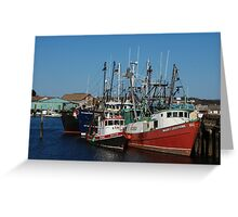 Trawlers in Gloucester Massachusetts Greeting Card