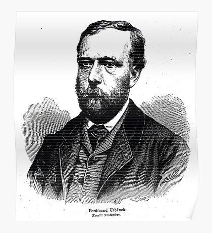 Friedrich Kriehuber Ferdinand Urbanek 1869 Poster