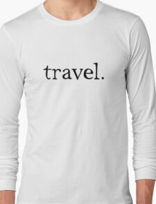 Simple Travel Graphic Long Sleeve T-Shirt
