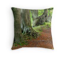 Beech Avenue, South Wales Valleys Throw Pillow