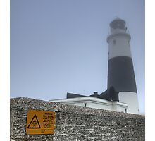 Alderney Lighthouse in the Fog. The Fog Horn is to be Finally Silenced Photographic Print