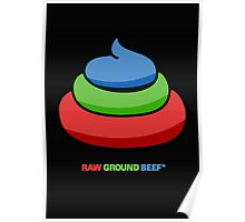raw ground beef Poster