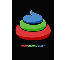 raw ground beef Photographic Print