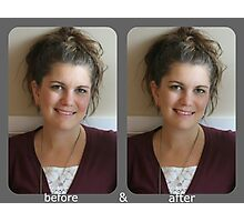 before & after Photographic Print