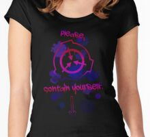 Contain Yourself Women's Fitted Scoop T-Shirt