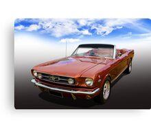 65 Mustang Canvas Print