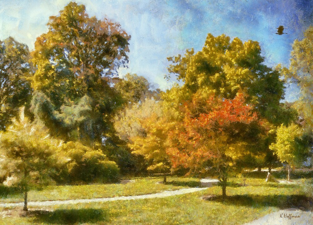 Maples In Summer by Kenneth Hoffman