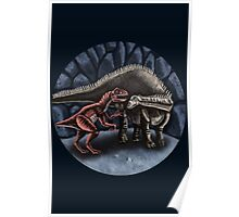 Allosaurus and Diplodocus Poster