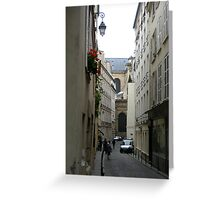The winding alleys of Paris Greeting Card