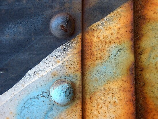 Rust White & Blue by Christopher Marshall