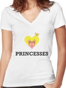 ♥ Princesses Women's Fitted V-Neck T-Shirt